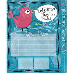 Substitute Teacher Folder Song Bird By Carson Dellosa
