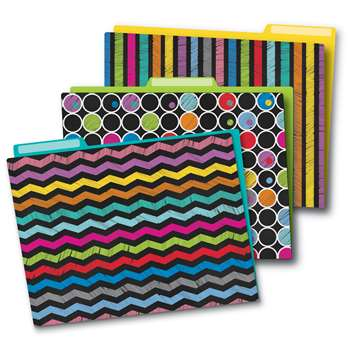 Colorful Chalkboard Folders, CD-136006