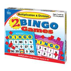 Multiplication & Division Bingo By Carson Dellosa
