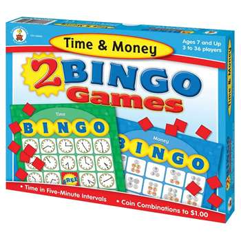 Time & Money Bingo By Carson Dellosa