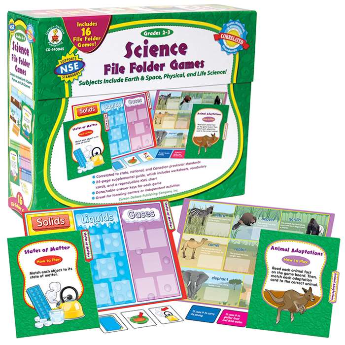 Science File Folder Games Grade 2-3 By Carson Dellosa