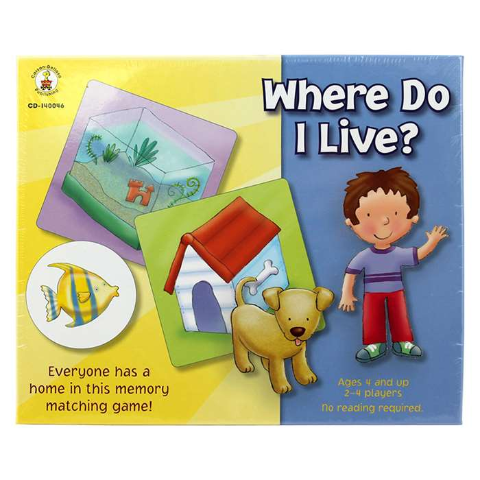 Where Do I Live? Early Childhood By Carson Dellosa