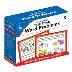 Task Cards Word Problems Gr K, CD-140100