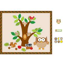 Owl Bulletin Board Essentials Set By Carson Dellosa