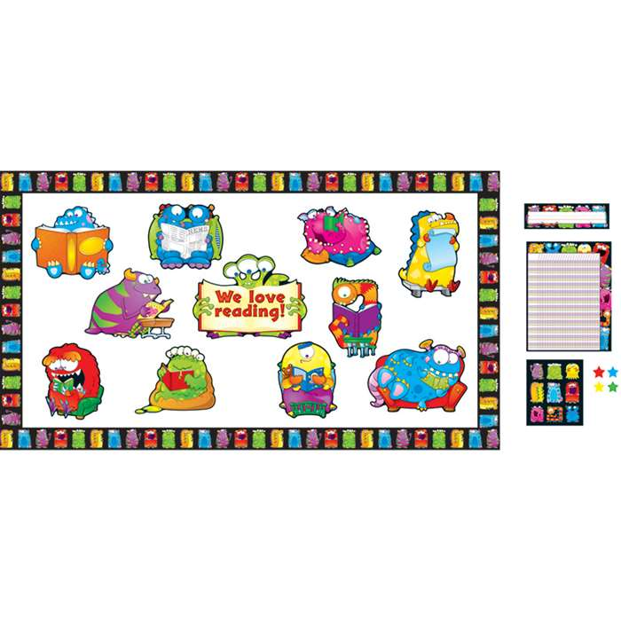 Monsters Bulletin Board Essentials Set By Carson Dellosa