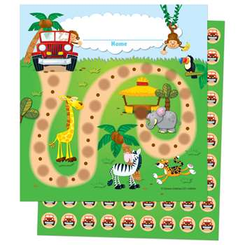 Jungle Safari Mini Incentive Charts By Carson Dellosa