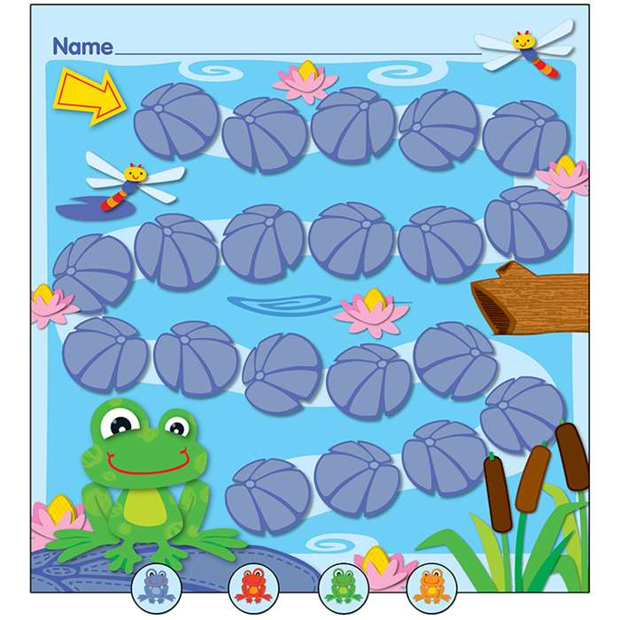 Funky Frogs Mini Incentive Charts By Carson Dellosa