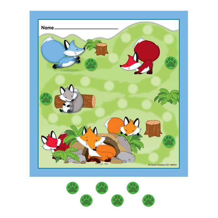 Playful Foxes Mini Incentive Charts, CD-148023