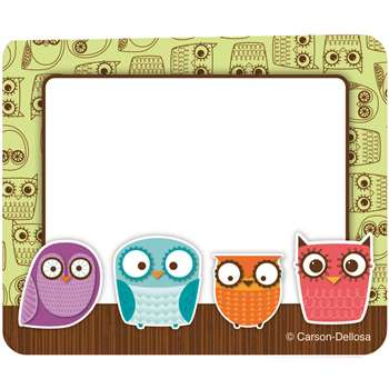 Owls Name Tags By Carson Dellosa