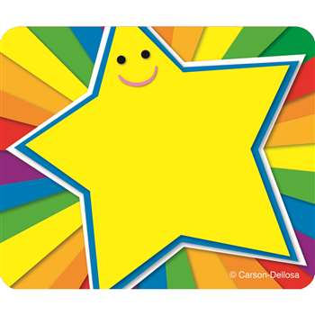 Rainbow Star Name Tags By Carson Dellosa