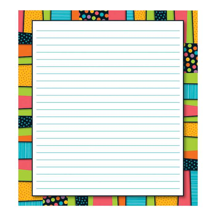 Stylin Stripes Notepads Gr Pk-8, CD-151081