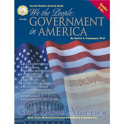 We The People Government In Amer Gr 5-8 & Up By Carson Dellosa