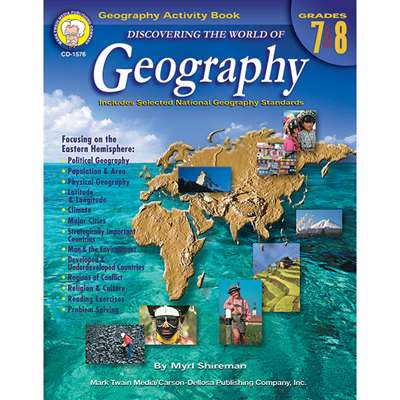 Discovering The World Of Geography Gr 7-8 By Carson Dellosa