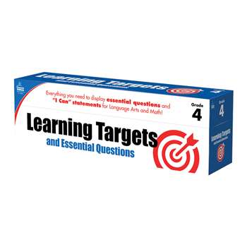 Gr 4 Learning Targets & Essential Questions, CD-158061
