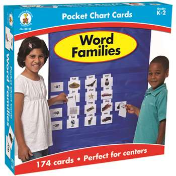 Word Families Pocket Charts Gr K-2 By Carson Dellosa