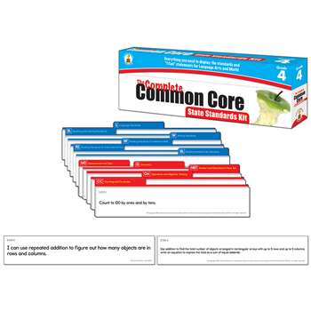 Gr 4 The Complete Common Core State Standards Kit By Carson Dellosa