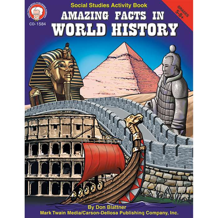 Amazing Facts In World History Gr 5-8& Up By Carson Dellosa