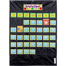 Deluxe Calendar Pocket Chart Black, CD-158574