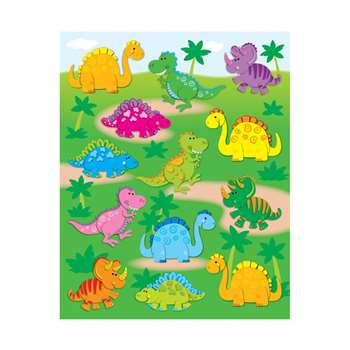 Dinosaurs Shape Stickers 78Pk By Carson Dellosa