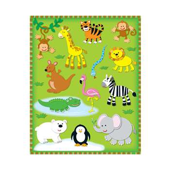 Zoo Shape Stickers 78Pk By Carson Dellosa