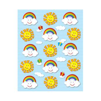 Suns & Rainbows Shape Stickers 90Pk By Carson Dellosa