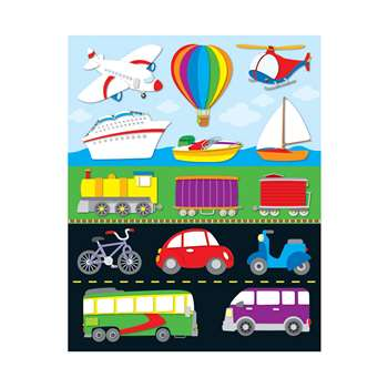 Transportation Shape Stickers 84Pk By Carson Dellosa