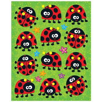 Ladybugs Shape Stickers 72Pk By Carson Dellosa