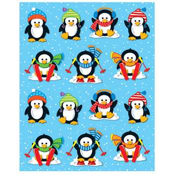 Penguins Shape Stickers 84Pk By Carson Dellosa
