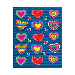 Hearts Shape Stickers 90Pk By Carson Dellosa