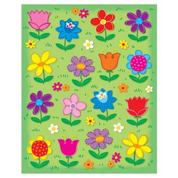 Flowers Shape Stickers 96Pk By Carson Dellosa
