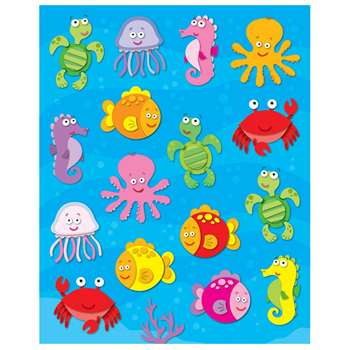 Sea Life Shape Stickers 96Pk By Carson Dellosa