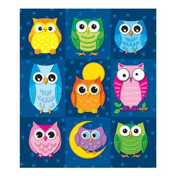 Colorful Owls Prize Pack Stickers By Carson Dellosa