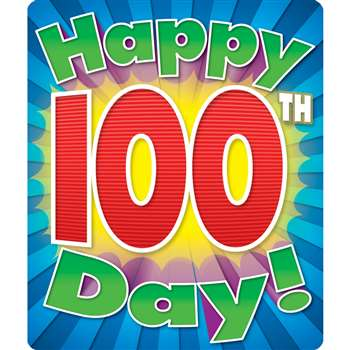 Happy 100Th Day Stickers By Carson Dellosa