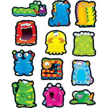 Monsters Stickers By Carson Dellosa