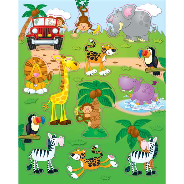 Jungle Safari Stickers By Carson Dellosa