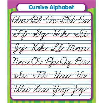 Cursive Alphabet Stickers By Carson Dellosa