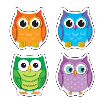 Colorful Owls Stickers By Carson Dellosa