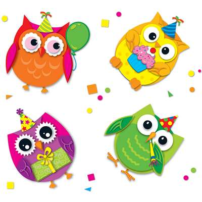 Celebrate With Colorful Owls By Carson Dellosa