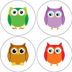 Colorful Owls Chart Seals By Carson Dellosa
