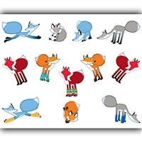 Playful Foxes Stickers, CD-168178