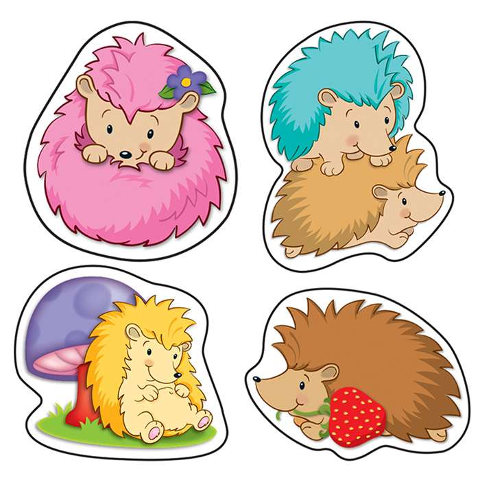 Happy Hedgehogs Shape Stickers, CD-168183