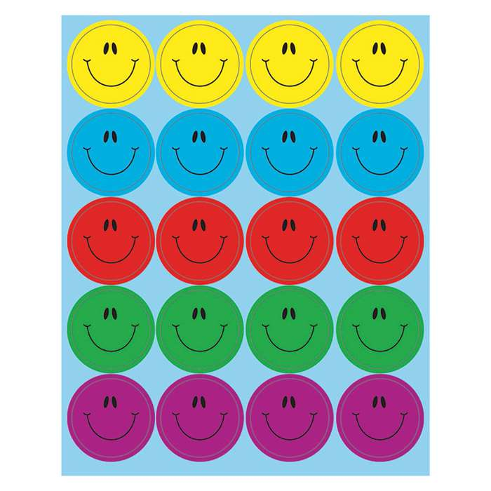 Dazzle Smiley Faces Stickers, CD-168188