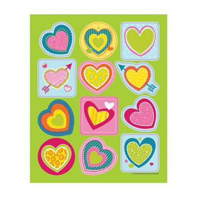 Bright Hearts Shape Stickers, CD-168190