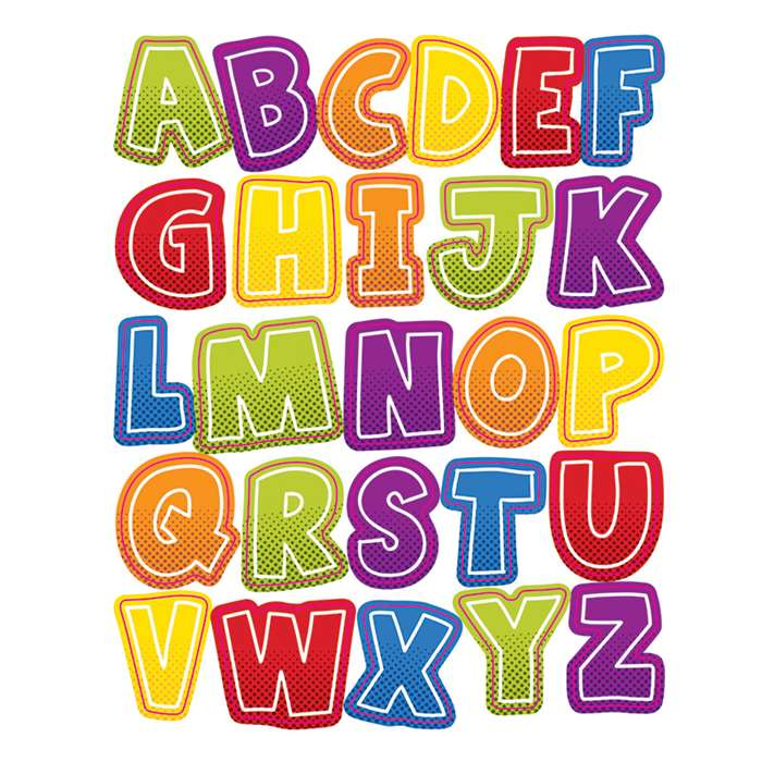 Super Power Alphabet Uppercase Shape Stickers, CD-168197