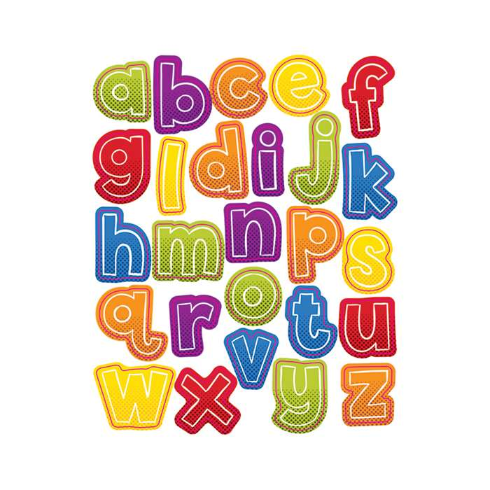 Super Power Alphabet Lowercase Shape Stickers, CD-168198