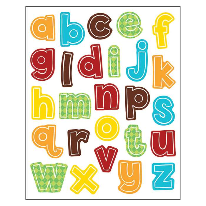 Hipster Alphabet Lowercase Shape Stickers, CD-168212