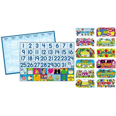 Bb Set Year Round Calendar & Accessories By Carson Dellosa