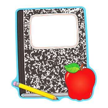 Composition Book And Apple Two Sided By Carson Dellosa