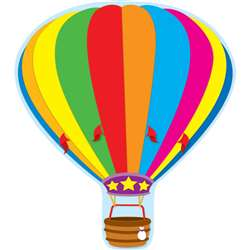 Hot Air Balloon Two Sided Decorations By Carson Dellosa