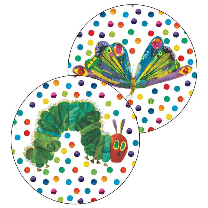 Shop The Very Hungry Caterpillar 45Th Anniversary Two Sided Decorations - Cd-188056 By Carson Dellosa